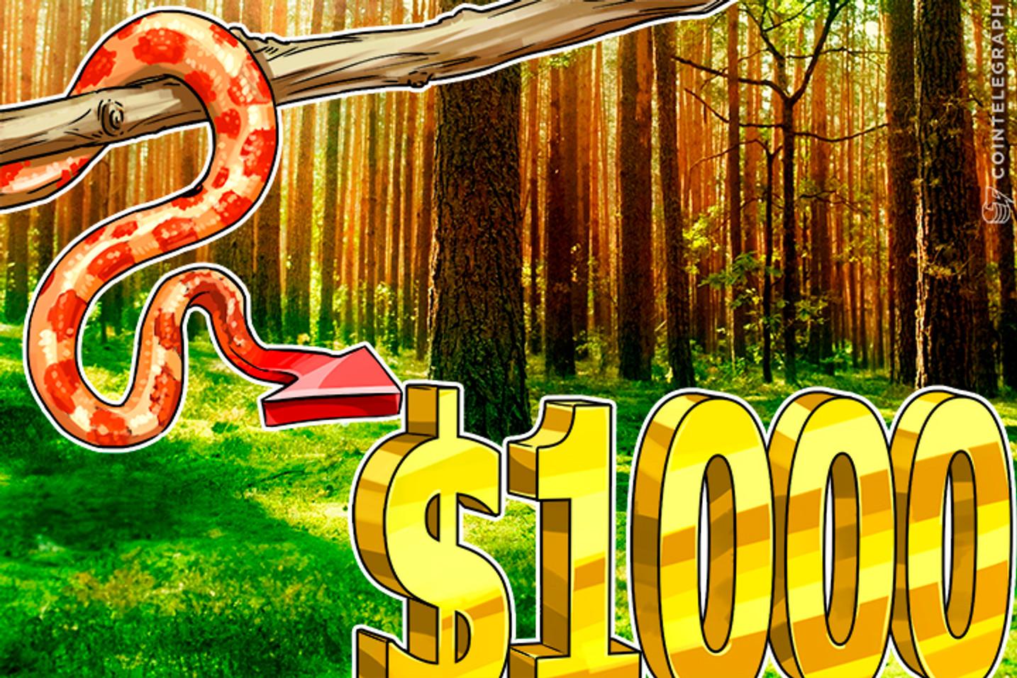 Bitcoin Price Climbs Closer to $1000 As More Bitcoin Going US Way