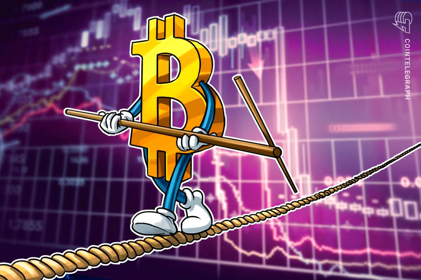 ダウントレンドの中、ビットコインは綱渡り状態か|テゾスが15%以上の急騰【仮想通貨相場】