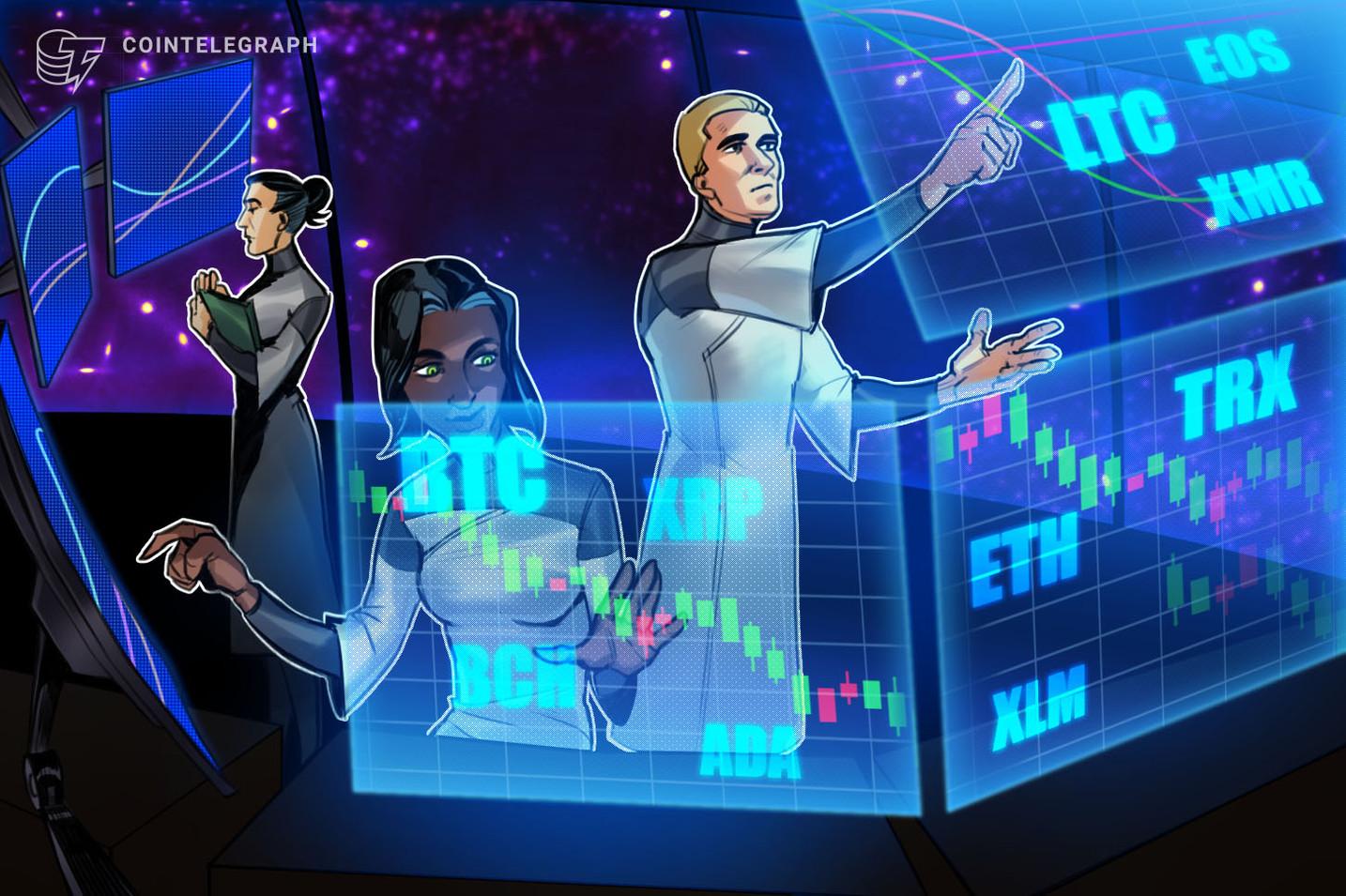 Kursanalyse, 12. November: Bitcoin, Ethereum, Ripple, Bitcoin Cash, EOS, Stellar, Litecoin, Cardano, Monero, TRON