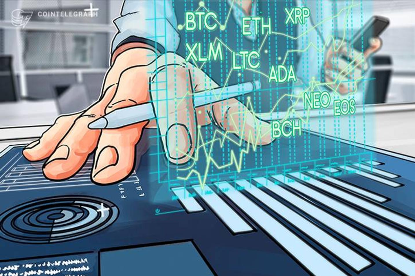 Bitcoin, Ethereum, Bitcoin Cash, Ripple, Stellar, Litecoin, Cardano, NEO, EOS: Analisi dei prezzi,  4 aprile
