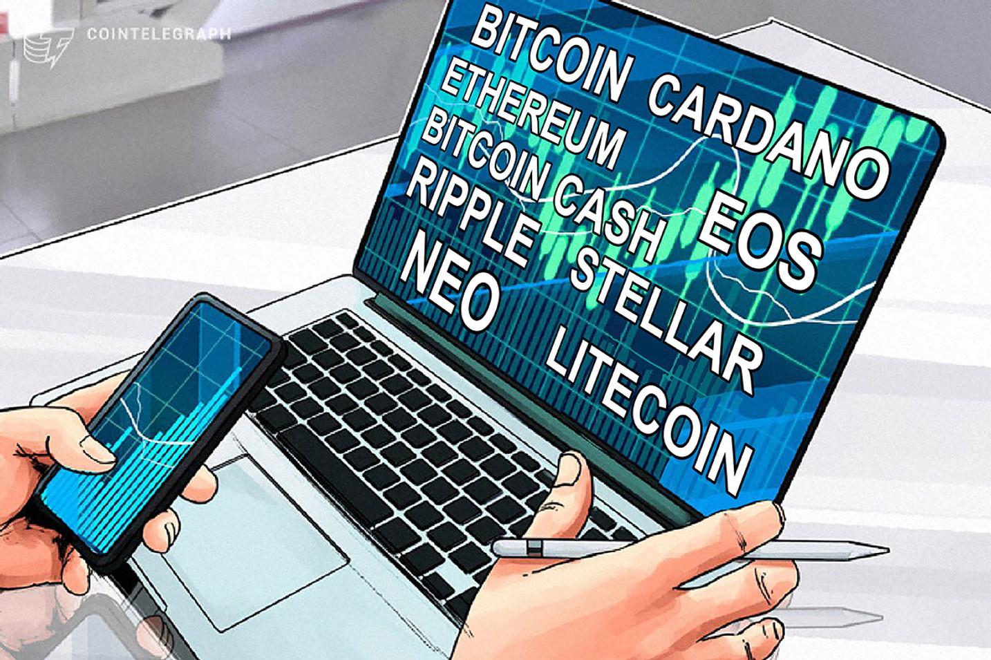 Análise de preços, 26 de Março: Bitcoin, Ethereum, Bitcoin Cash, Ripple, Stellar, Litecoin, Cardano, NEO e EOS