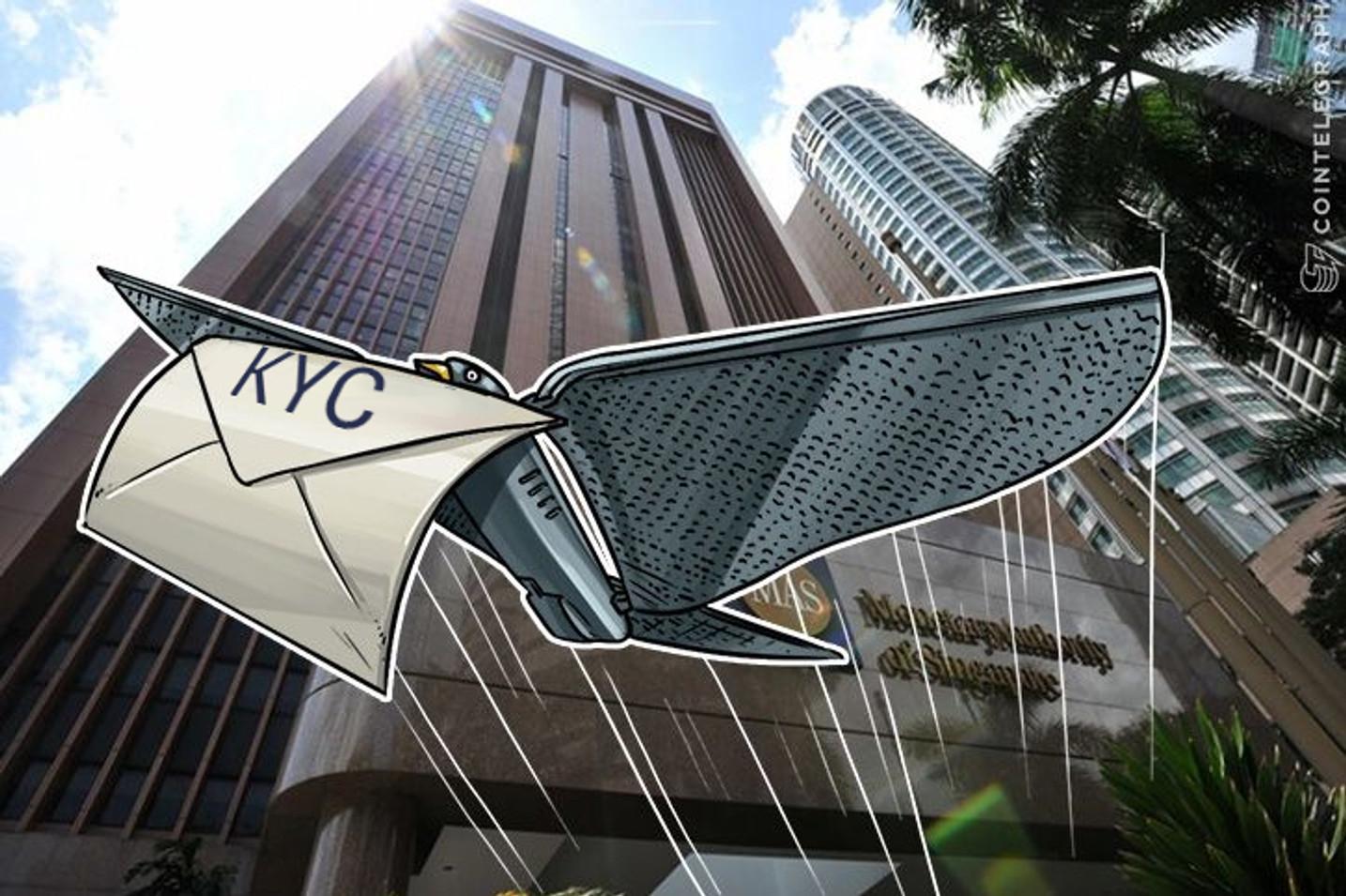 Regulador de mídia de Cingapura faz parceria com bancos asiáticos para o sistema de identificação de clientes baseado em Blocklock
