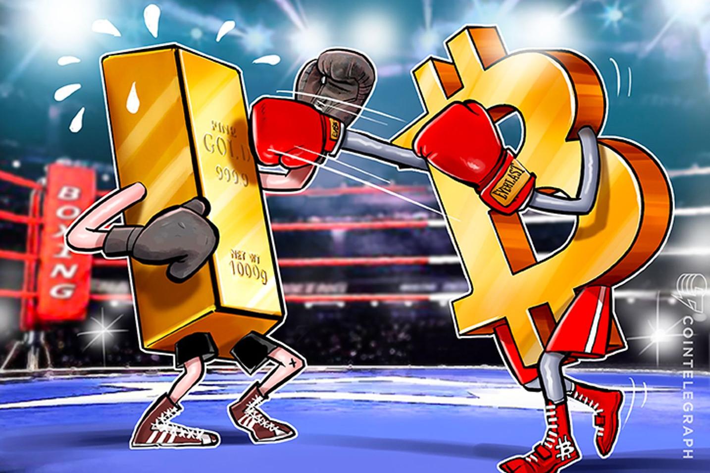 ビットコイン VS 金 グーグル検索ランキング(7月10日)