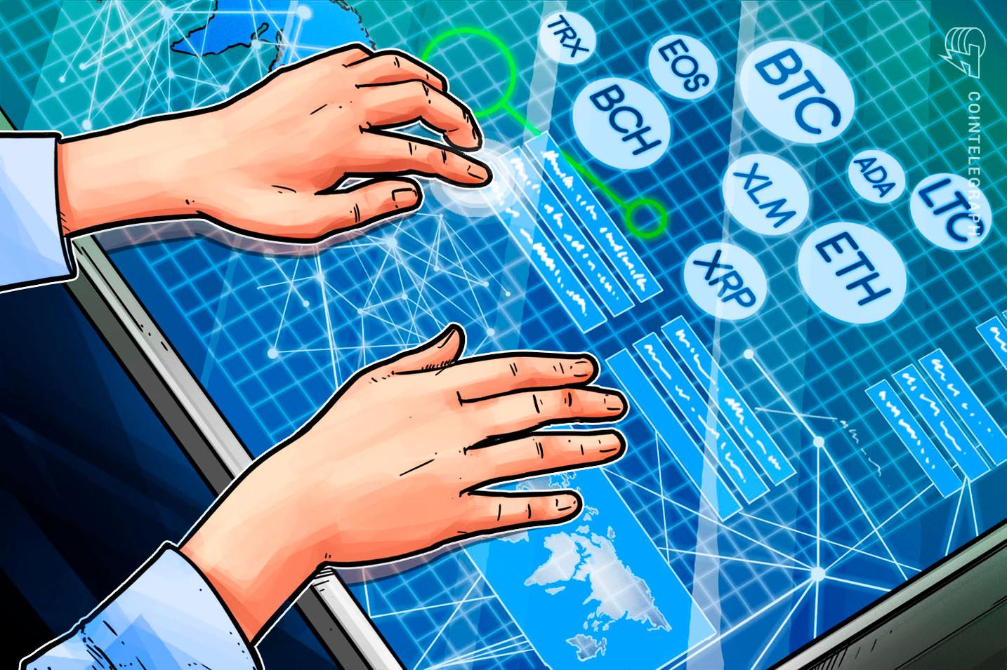 4月30日 仮想通貨チャート分析:ビットコイン イーサ ビットコインキャッシュ リップル ステラ ライトコイン カルダノ トロン EOS