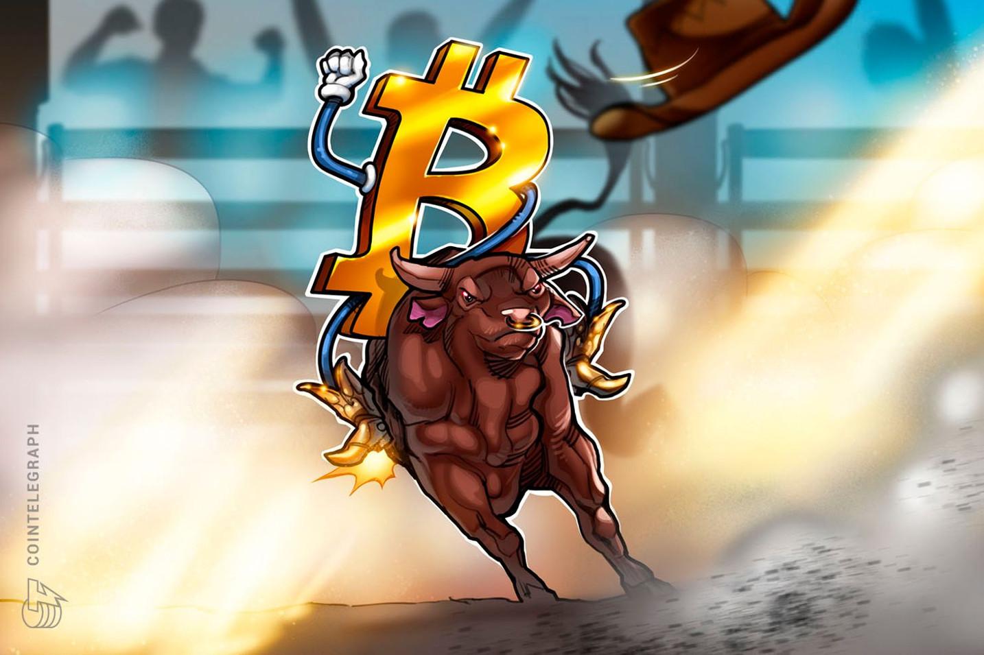 仮想通貨ビットコイン、80日ぶりの1万ドルに迫る