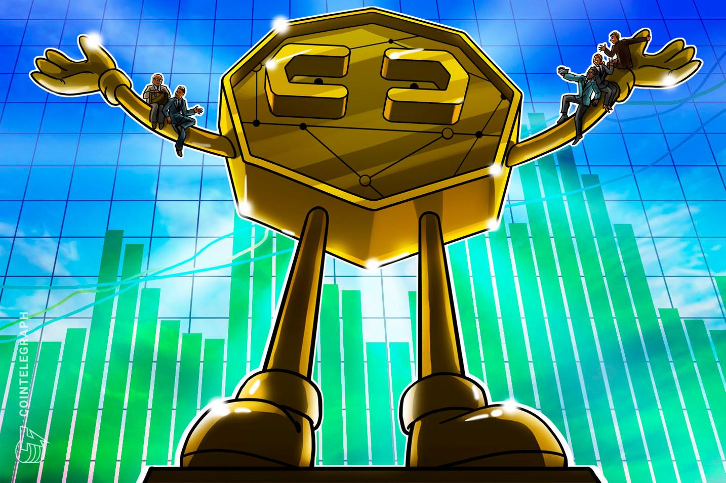 Bitcoin robbt sich an 7.550 US-Dollar ran, Altcoins mit mittleren Gewinnen