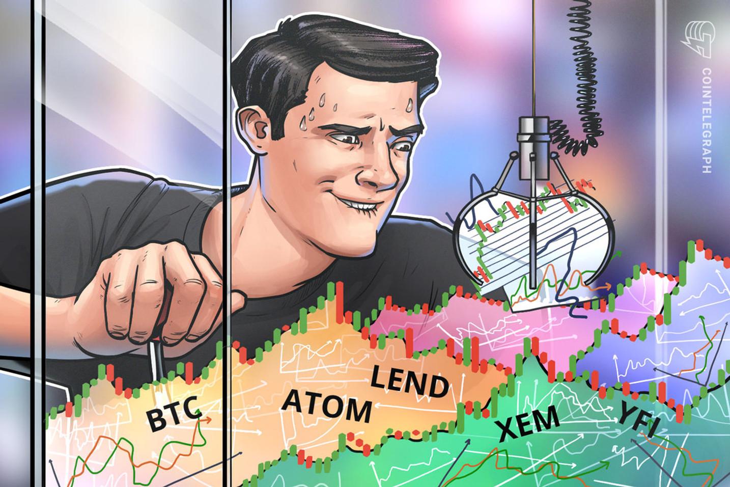 Top 5 Cryptocurrencies to Watch This Week: BTC, ATOM, LEND, XEM, YFI