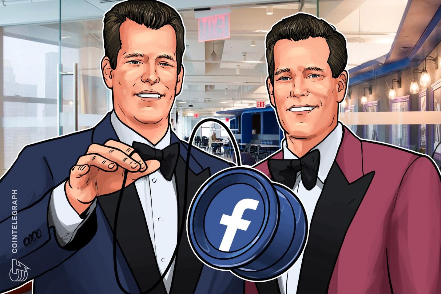 フェイスブック訴えたウィンクルボス兄弟、独自仮想通貨「リブラ」に「なぜそんなに時間がかかったんだい?」