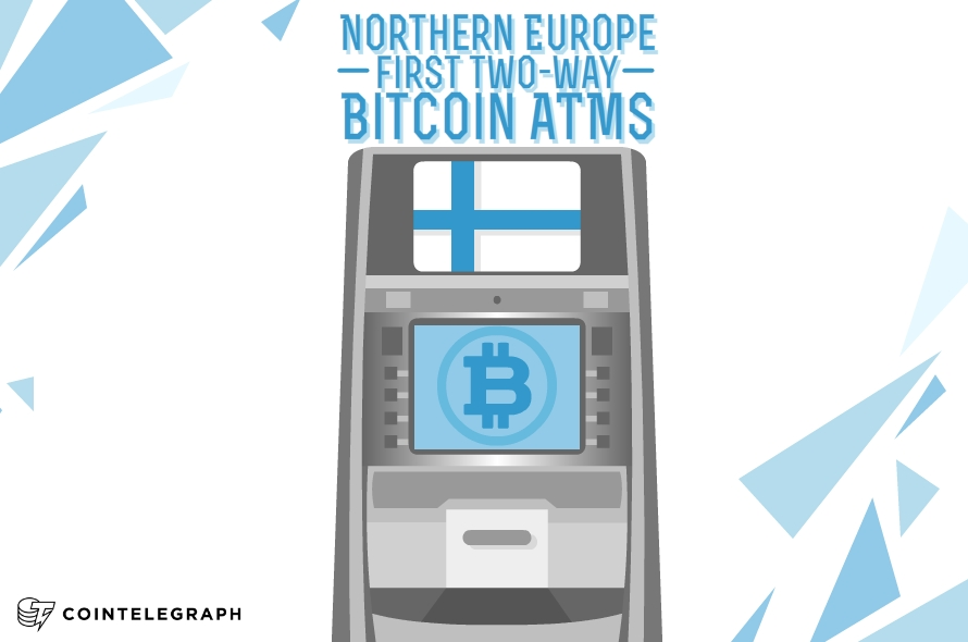 Northern Europe's first two-way Bitcoin ATMs launched – accessible to anyone like never before