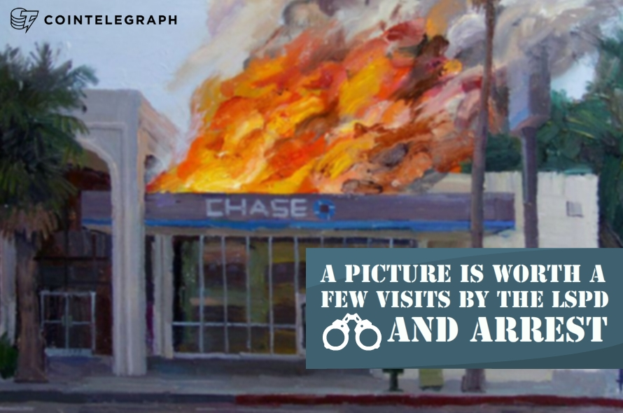 What's a picture depicting a banking apocalypse worth?