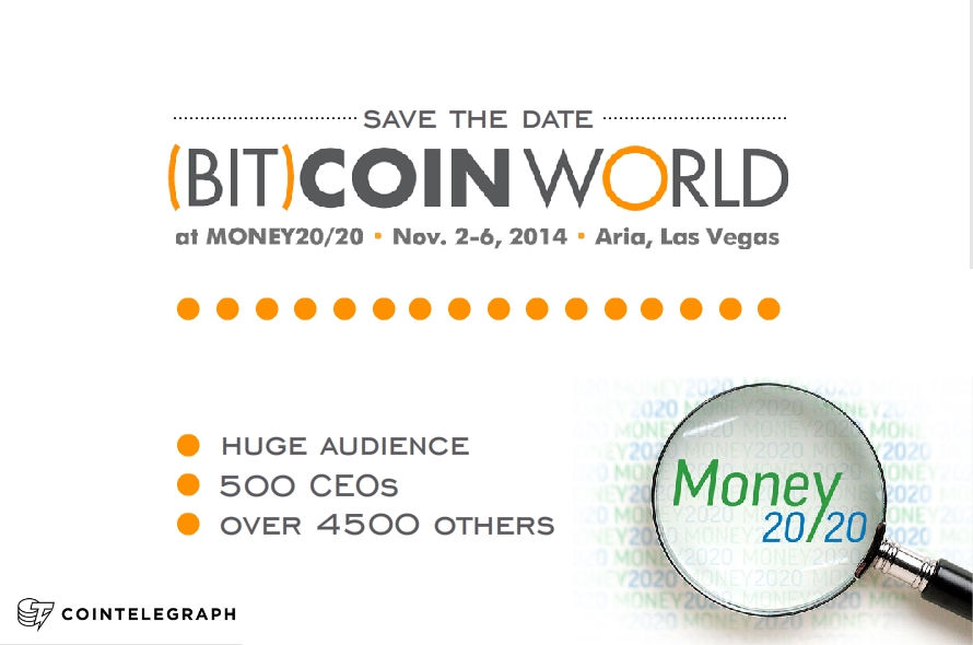 Save the date: (Bit)coinWorld At Money2020, 2-6 November 2014