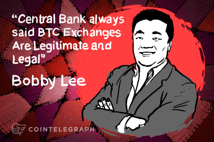 """Central Bank always said BTC Exchanges Are Legitimate and Legal"" - BTC China CEO, Bobby Lee"