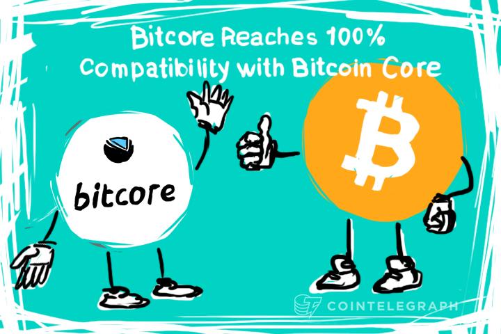 Bitcore Reaches 100% Compatibility with Bitcoin Core