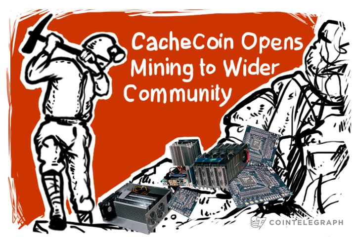 """De-geeking"" Begins? CacheCoin Opens Mining to Wider Community"