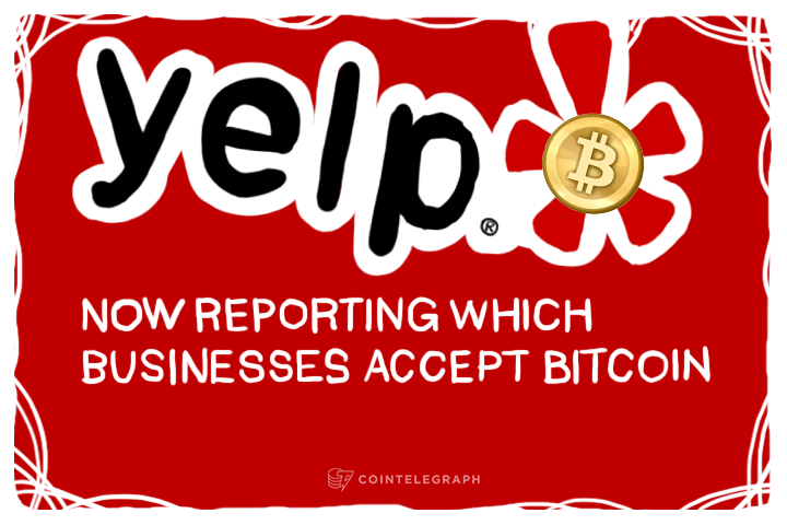 Yelp now reporting which businesses accept Bitcoin