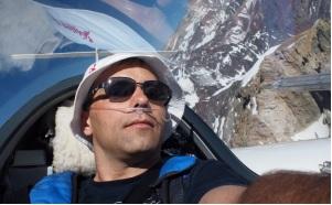 World's first Mt. Everest flight and Bitcoin logo on a glider