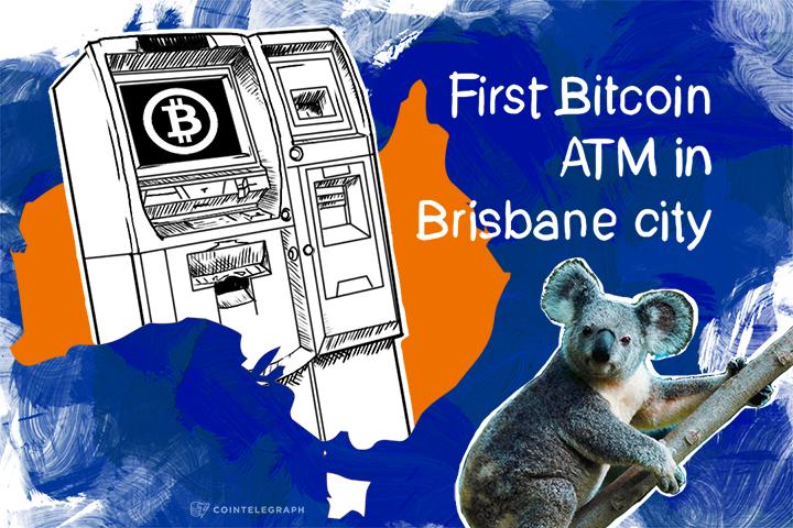 First Bitcoin ATM in Brisbane city