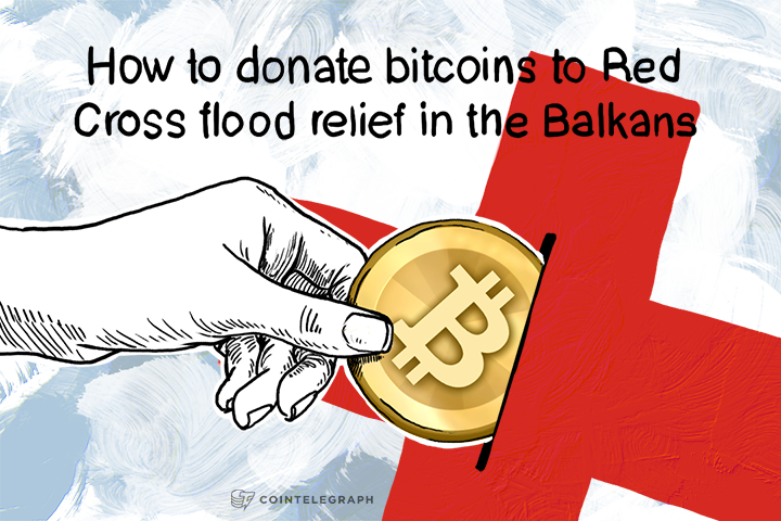 How to donate bitcoins to Red Cross flood relief in the Balkans
