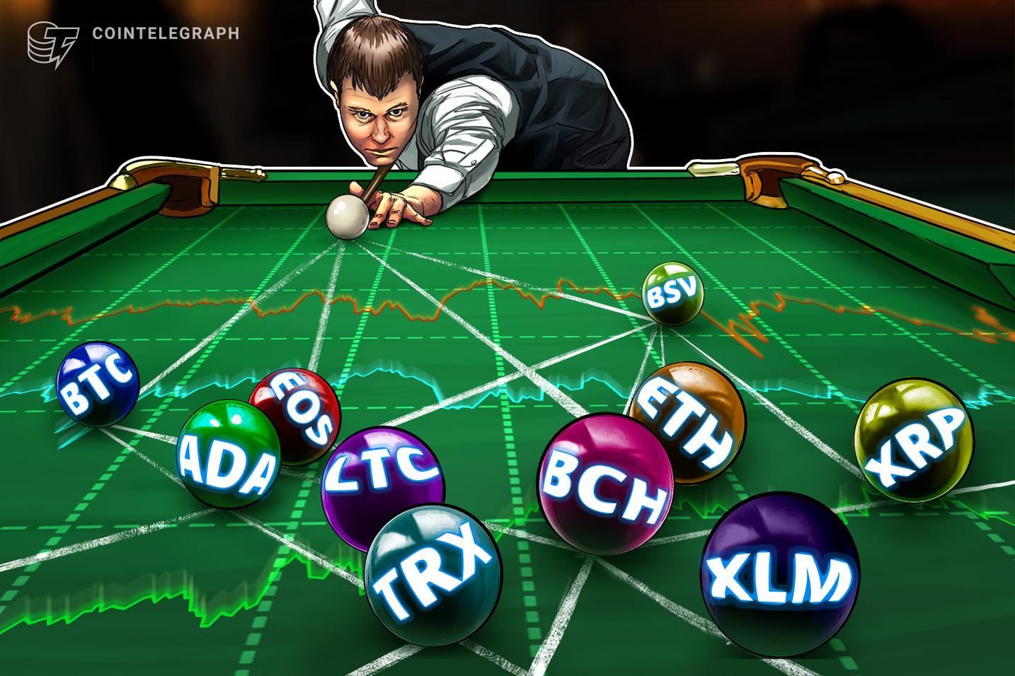 Bitcoin, Ethereum, Ripple, Bitcoin Cash, EOS, Litecoin, Stellar, Tron, Bitcoin SV, Cardano: Analisi dei prezzi, 9 gennaio