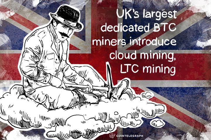 UK's largest dedicated BTC miners introduce cloud mining, LTC mining