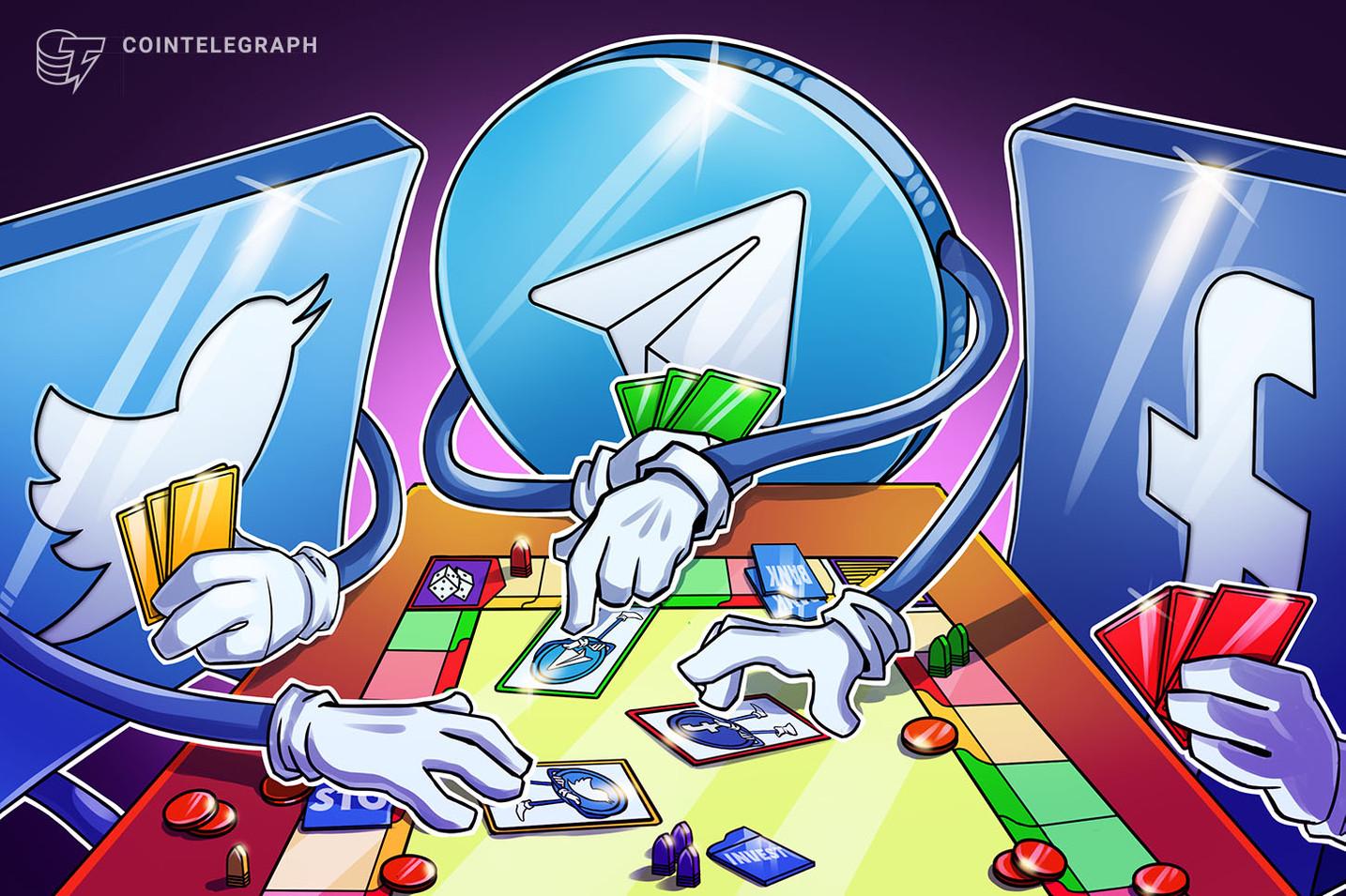 Facebook, Twitter e Telegram: un nuovo paradigma per le criptovalute?