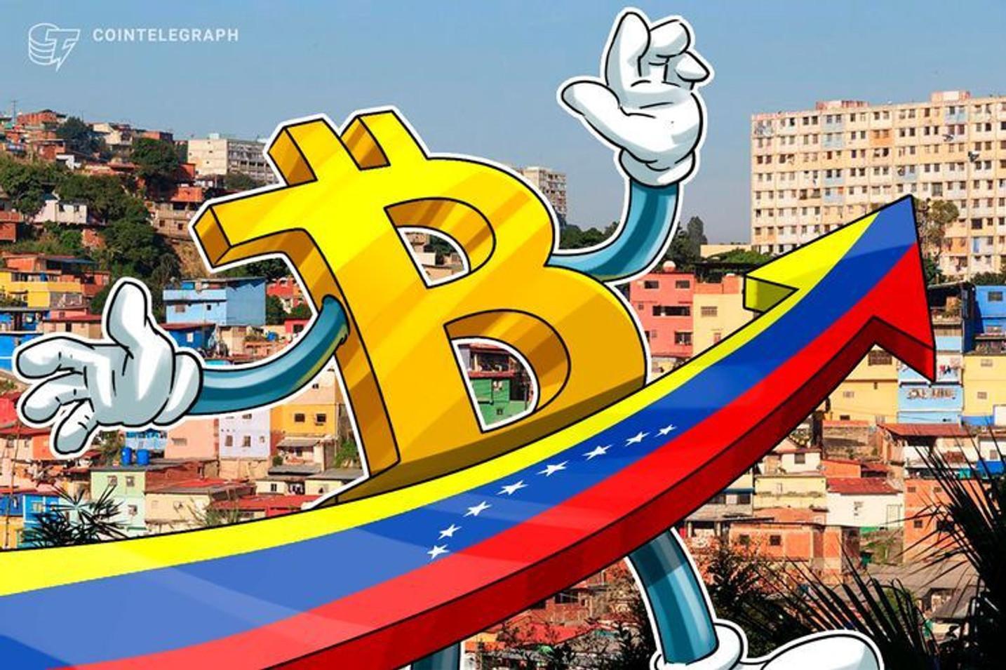 Volume de negociações de Bitcoin na Venezuela atinge novo recorde