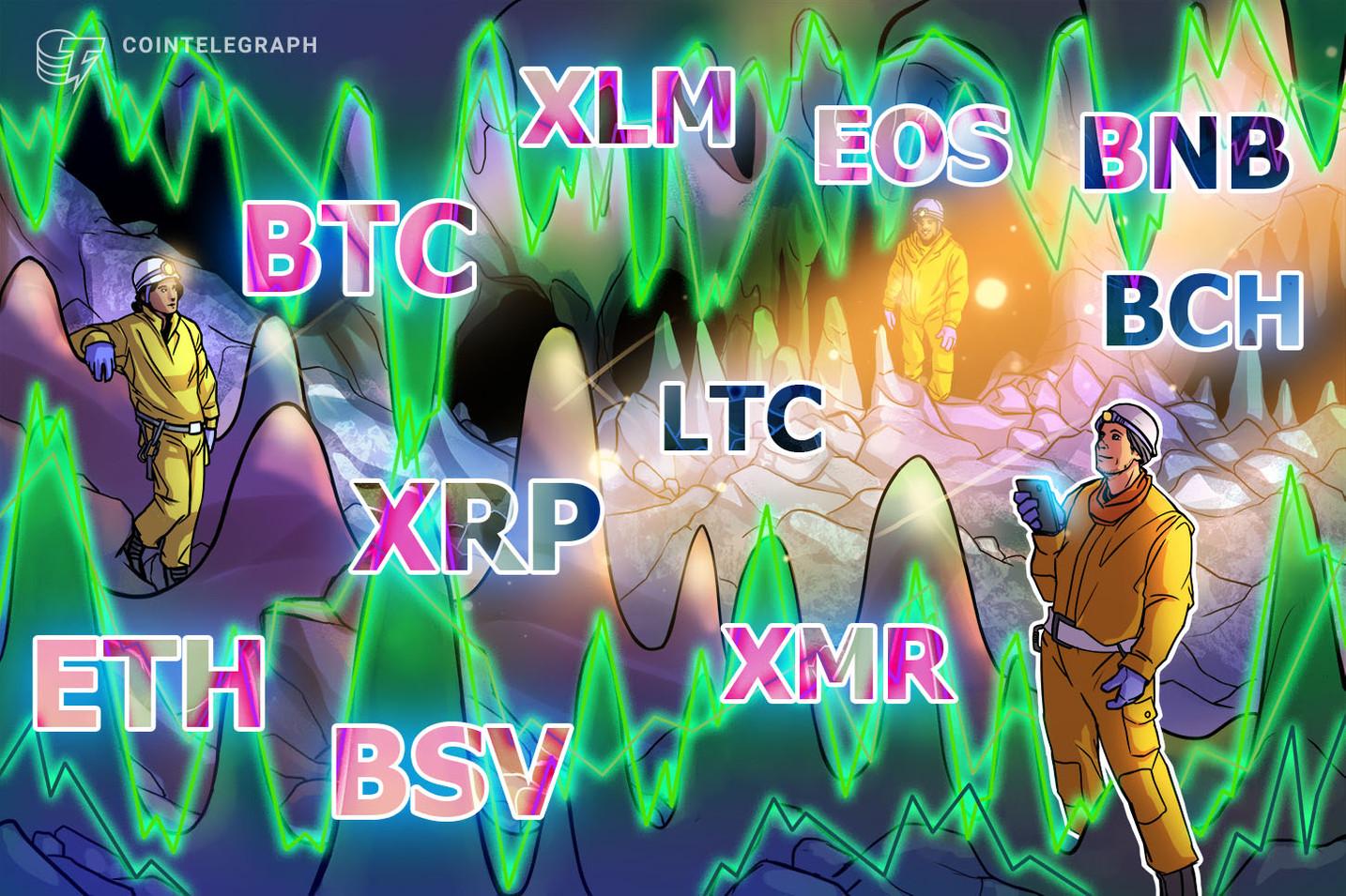 Precio de bitcoin hoy 05/08: Análisis de precios de BTC, ETH, XRP, LTC, BCH, BNB, EOS, BSV, XLM, XMR