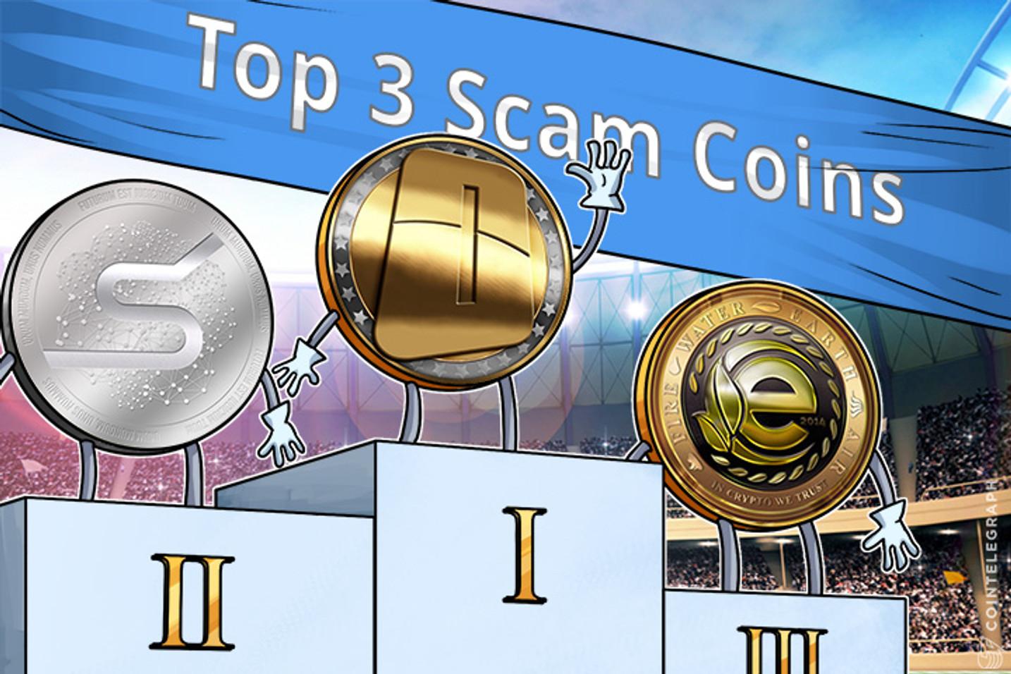OneCoin Leads Top 3 Scam Coins List, S-Coin, EarthCoin Follow