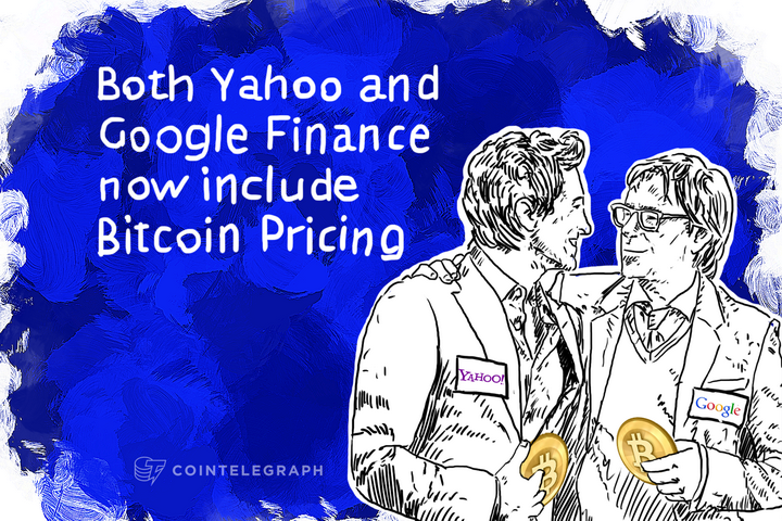 Both Yahoo and Google Finance now include Bitcoin Pricing