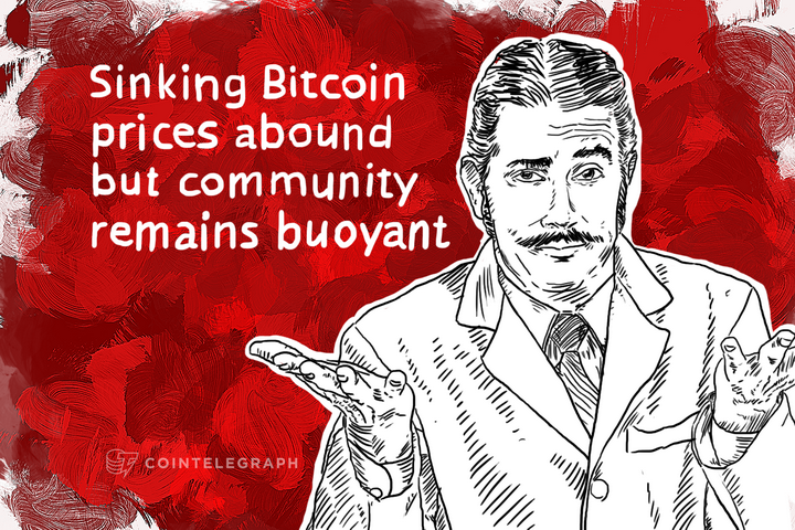 Sinking Bitcoin prices abound but community remains buoyant