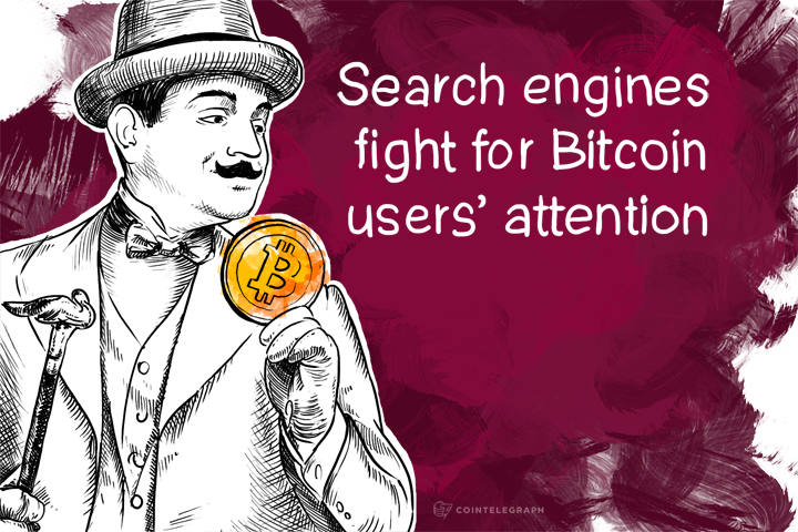 Search engines fight for Bitcoin users' attention