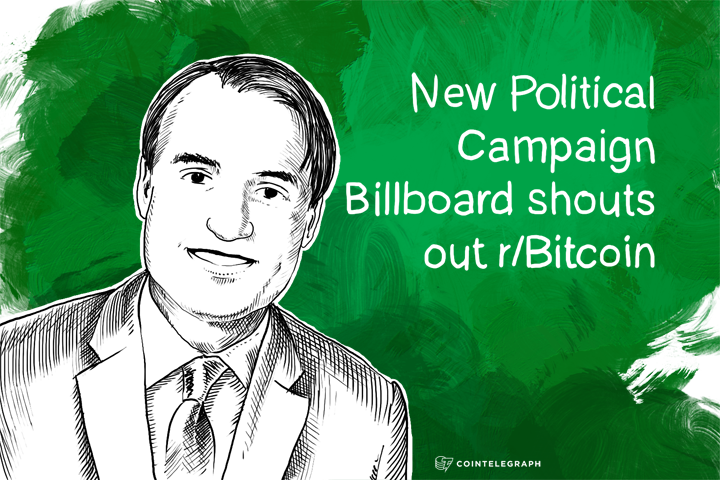 New Political Campaign Billboard shouts out r/Bitcoin