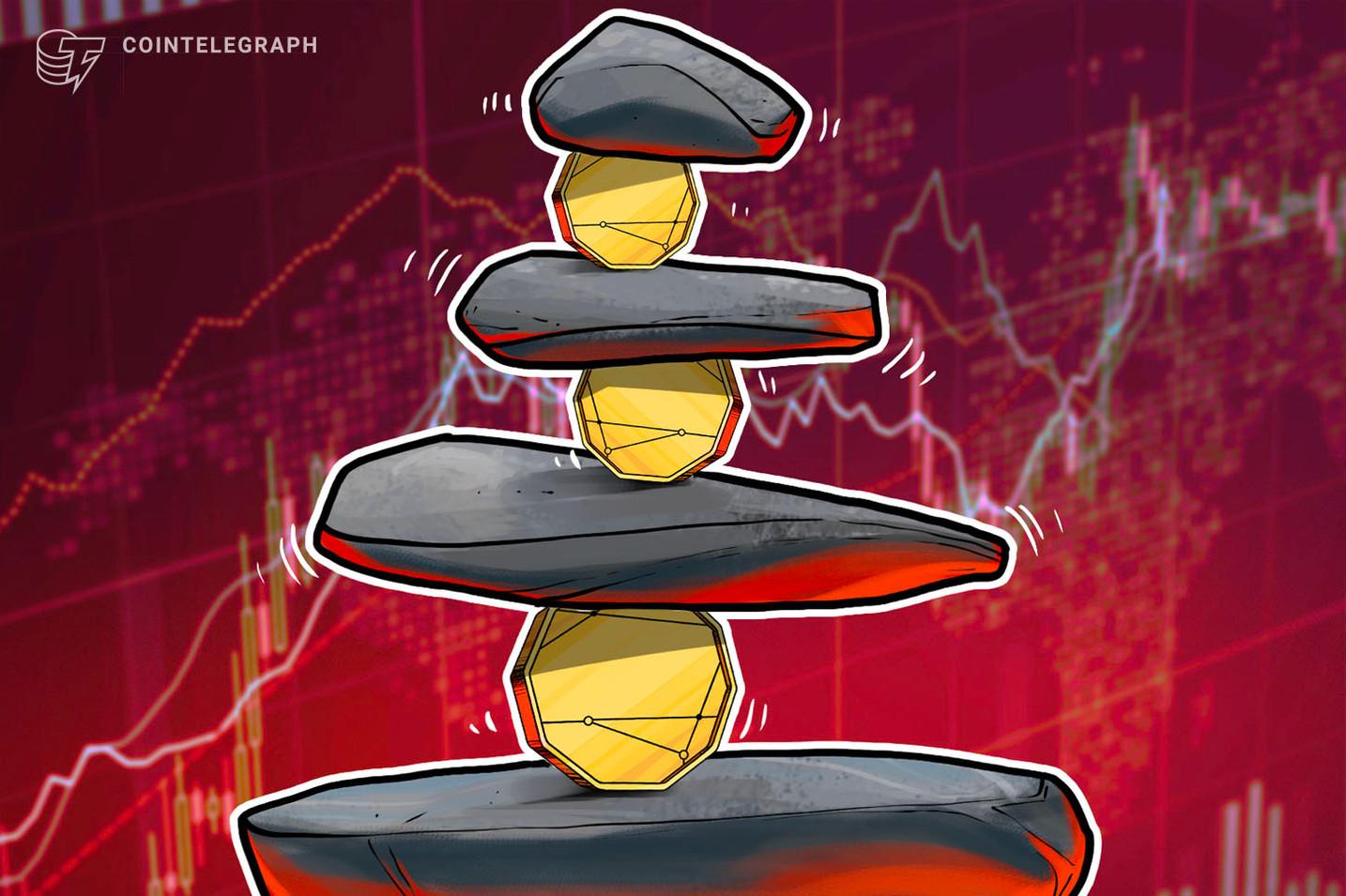 Preço do Bitcoin luta para manter o suporte de US$ 10.000 enquanto altcoins têm queda