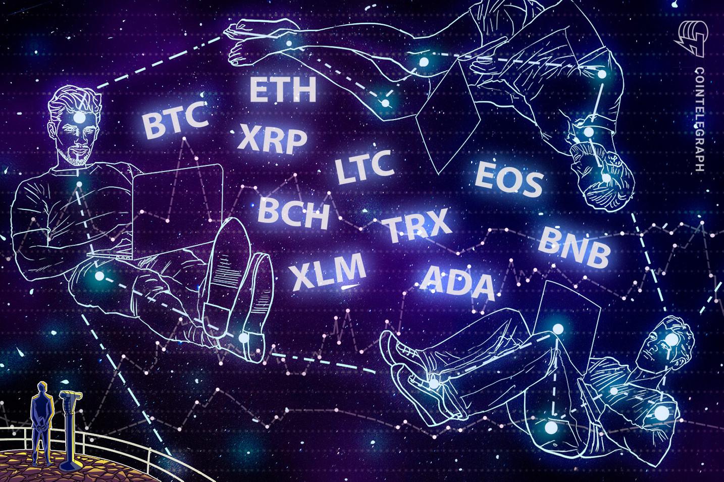 Análisis de precios al 12 de abril: Bitcoin, Ethereum, Ripple, Litecoin, EOS, Bitcoin Cash, Binance Coin, Stellar, Cardano y TRON