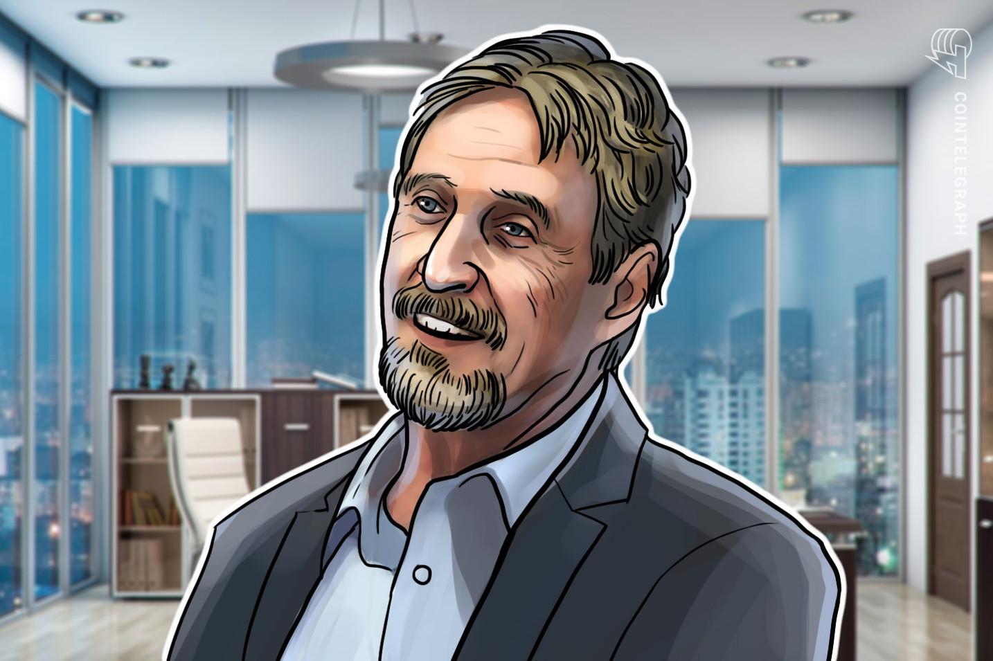 John McAfee continua a credere nella propria previsione: Bitcoin ad un milione entro il 2020