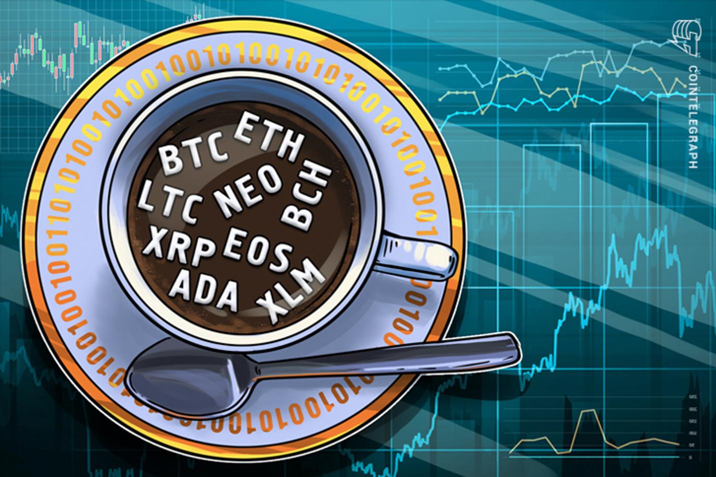 4月25日 仮想通貨チャート分析:ビットコイン イーサ ビットコインキャッシュ リップル ステラ ライトコイン カルダノ NEO EOS