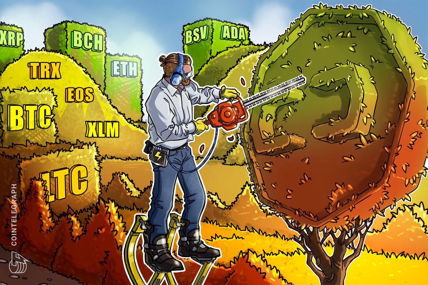 Kursanalyse, 17. Dezember: Bitcoin, Ripple, Ethereum, Stellar, EOS, Litecoin, Bitcoin Cash, Bitcoin SV, TRON, Cardano