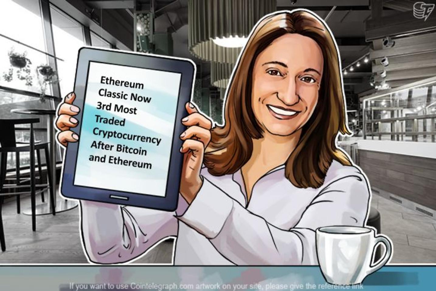 Ethereum Classicがついにビットコイン、イーサリアムに続いて最も取引された暗号通貨になる