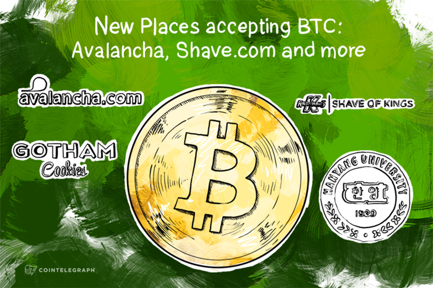 New Places accepting BTC: Avalancha, Shave.com and more