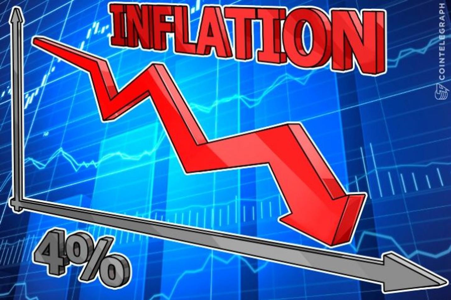 Najbolja valuta na svetu: bitkoinova inflatorna stopa pada na 4%