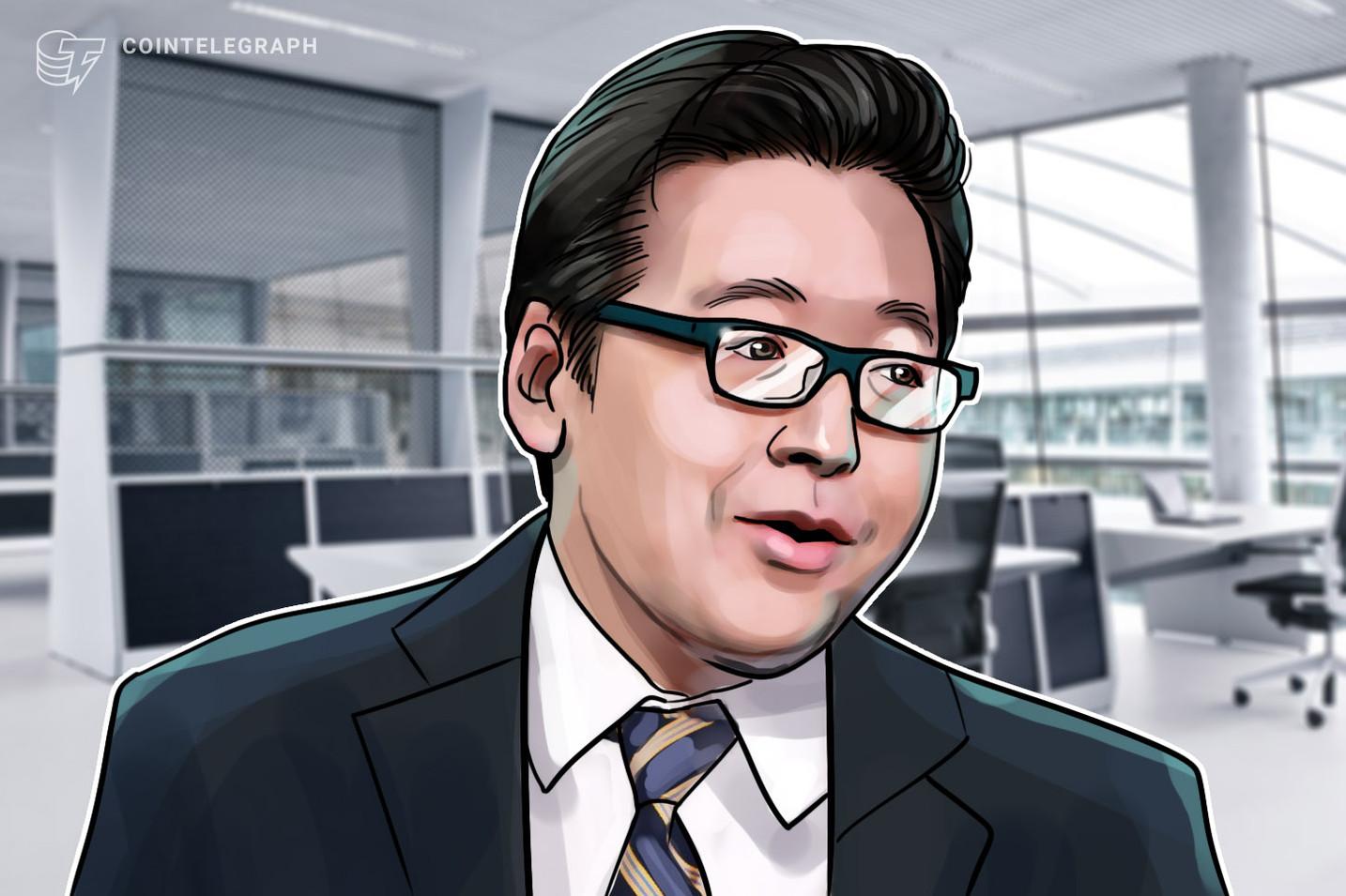 """Tom Lee: al igual que las acciones de FAANG, BTC alcanzará los USD 25,000 debido al """"valor de la red"""""""