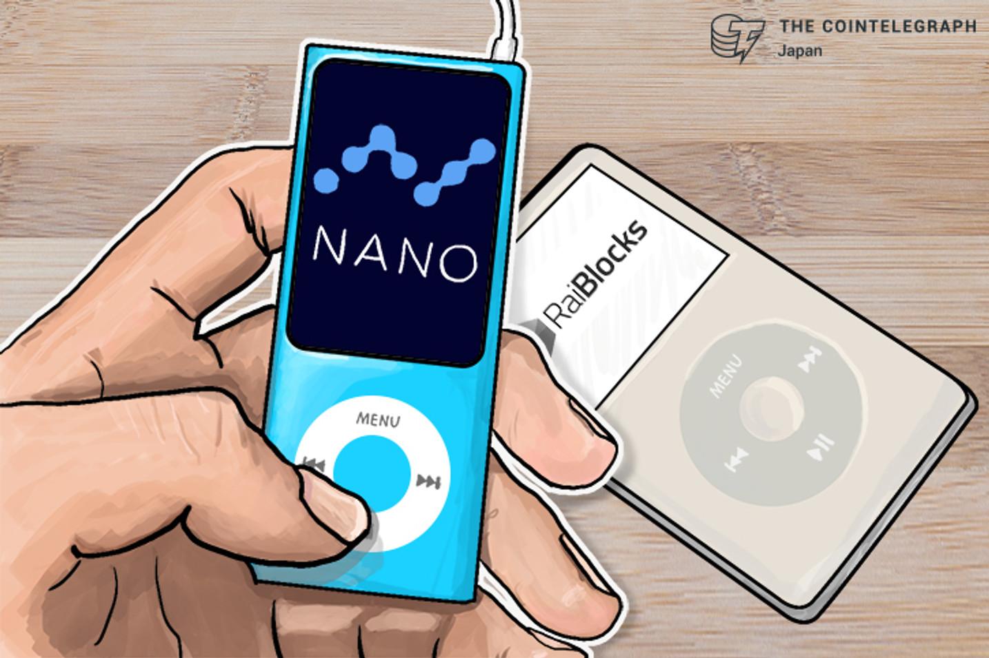 レイブロックス(XRB)がブランド刷新で「ナノ」に改名  一時20%急騰