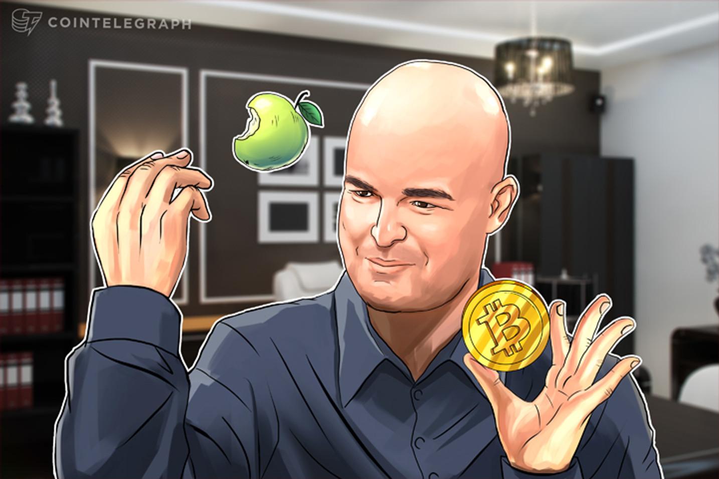 Capitalização de mercado da Apple na alça de mira do Bitcoin: Ronnie Moas
