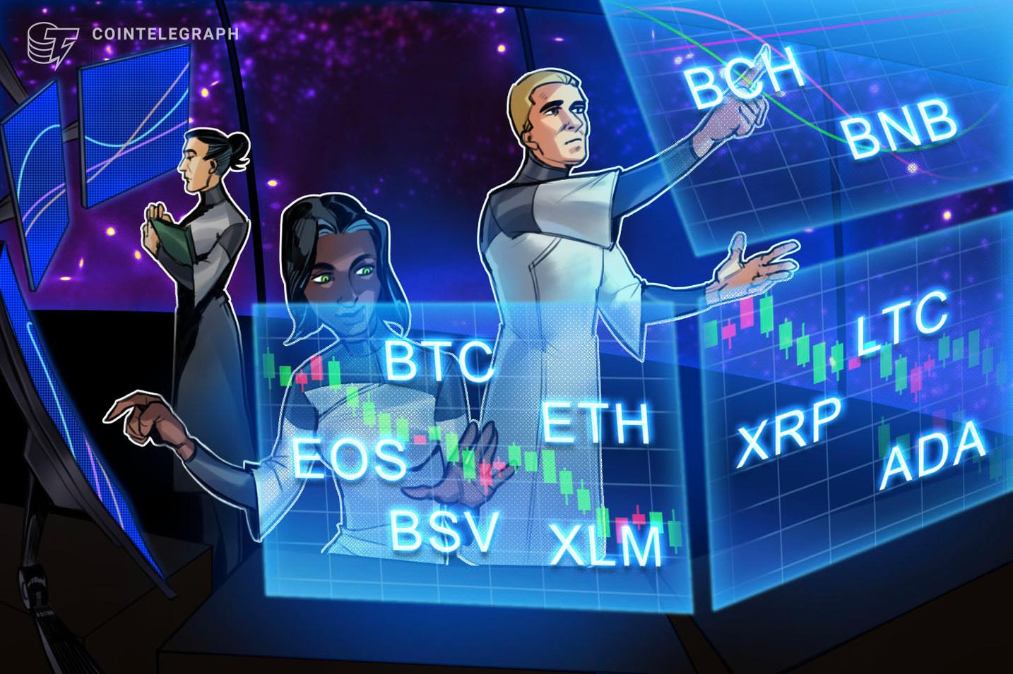 Analisi dei prezzi 26/07: BTC, ETH, XRP, LTC, BCH, BNB, EOS, BSV, XLM, ADA