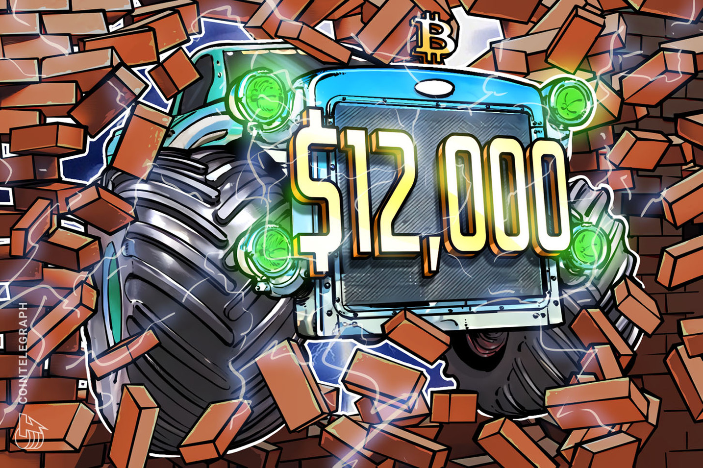 Bitcoin Price Parabolic Advance Continues Past $12,000