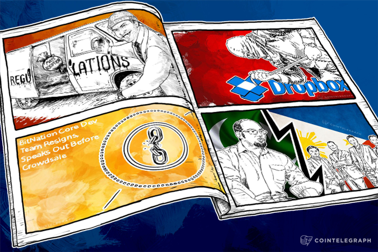 Weekend Roundup: Trouble at Bitnation and Dropbox, Promising Projects in Pakistan and the Philippines
