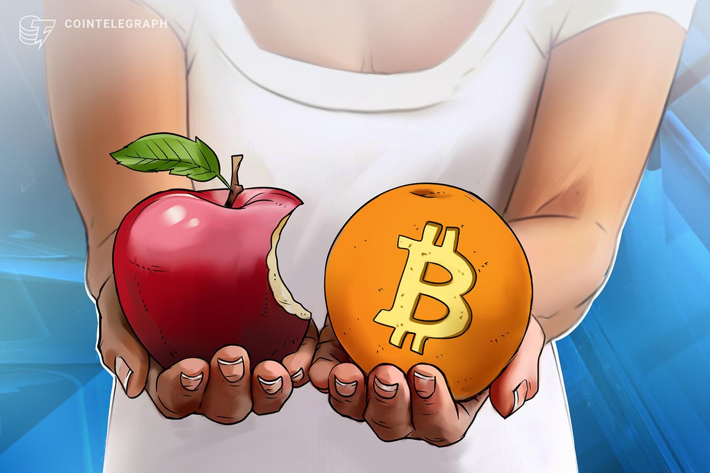 bitcoin del mercato bitcoin vs apple