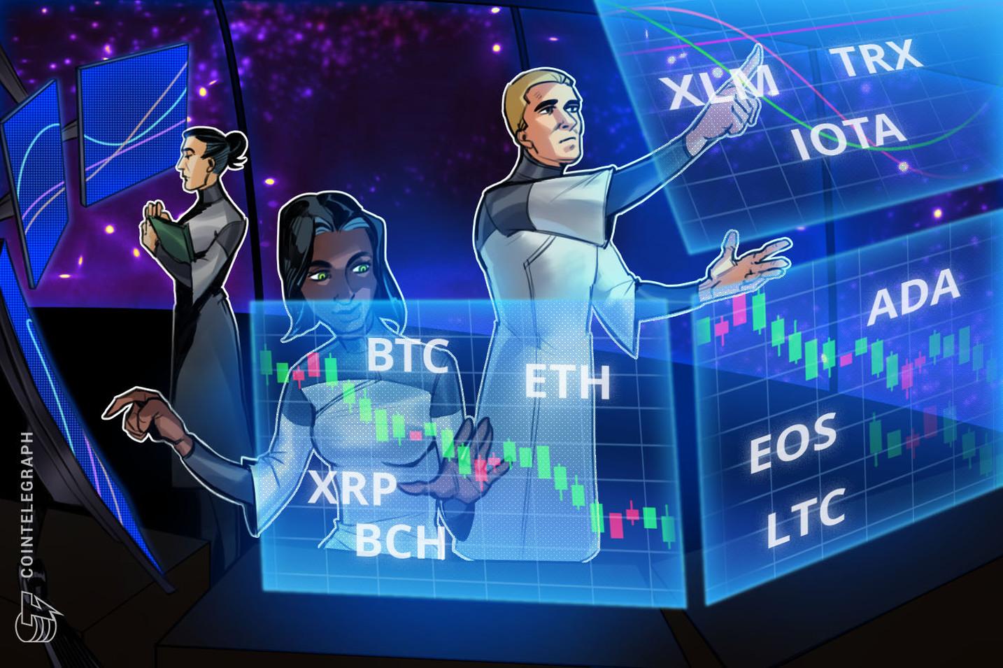 Análisis de precios, 30 de julio: Bitcoin, Ethereum, Ripple, Bitcoin Cash, EOS, Litecoin, Cardano, Stellar, IOTA, TRON