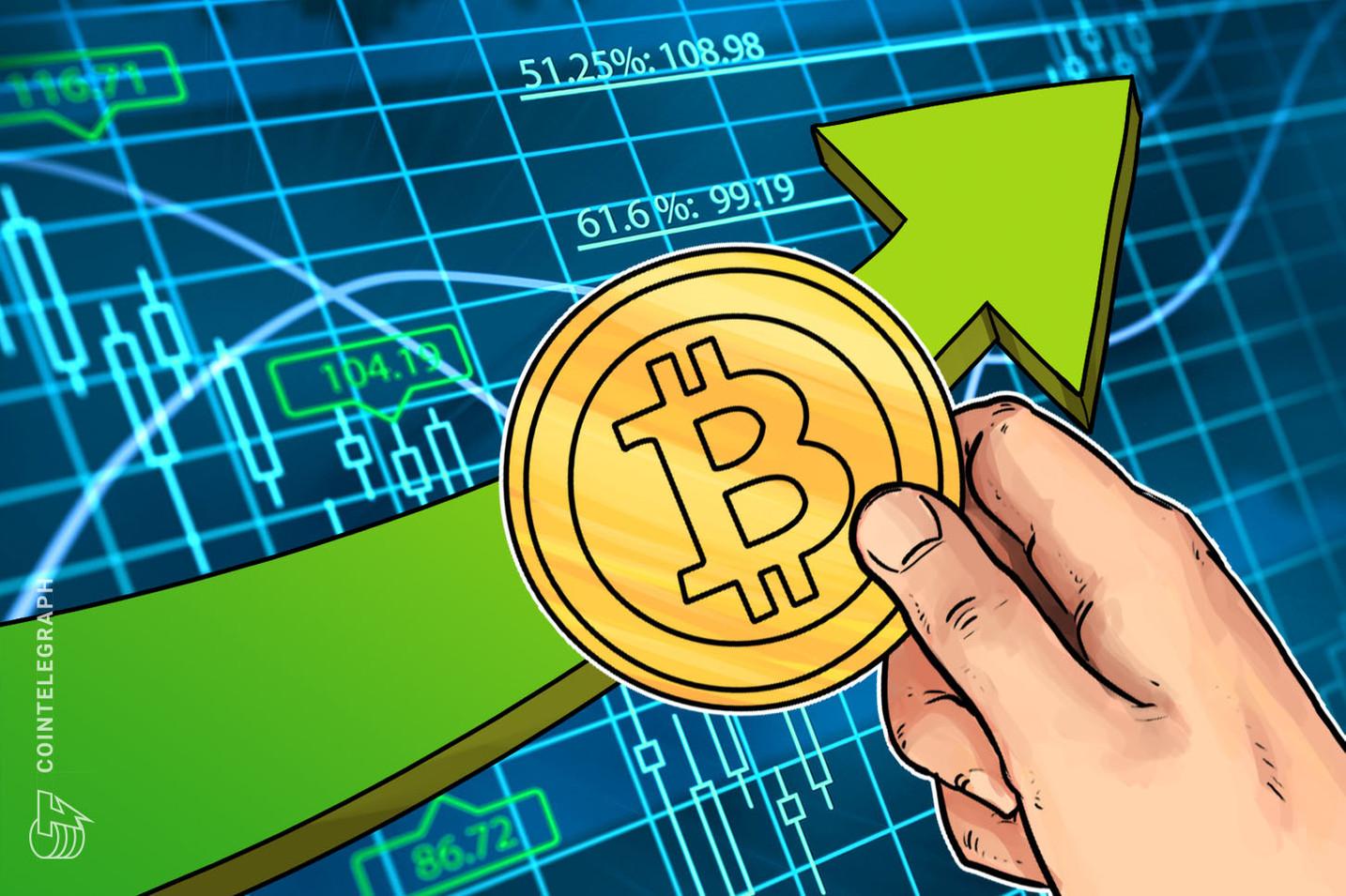 Mercati delle criptovalute in crescita, Bitcoin spinge per i 6.500$