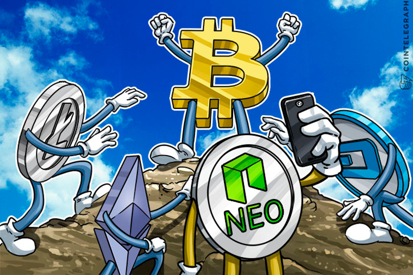 Surging Price Allows Digital Currency NEO to Enter Top 10 List, Bitcoin Remains on Top